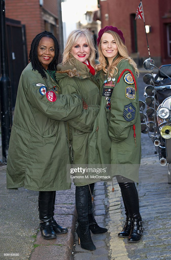 PP Arnold, Carol Harrison and Mollie Marriott pose at Photocall for 'All Or Nothing' on February 9, 2016 in London, England.