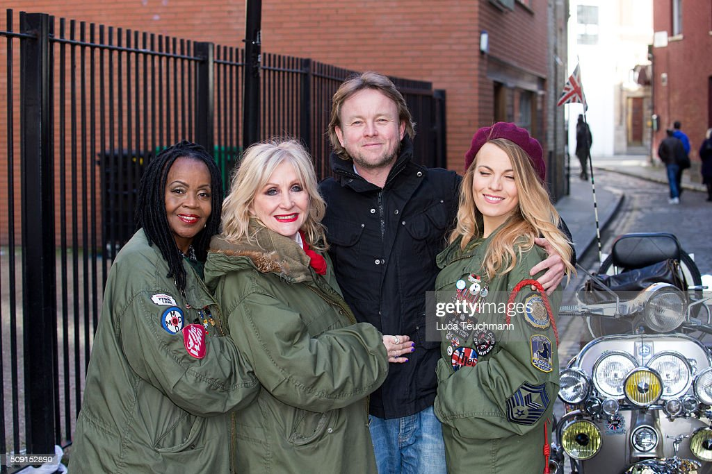 PP Arnold, Carol Harrison,Chris Simmons and Mollie Marriott attend Photocall for 'All Or Nothing' on February 9, 2016 in London, England.