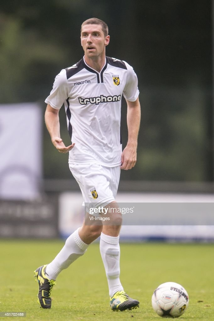 Arnold Kruiswijk of Vitesse during the friendly match between Vitesse and Cercle Brugge on July 4, 2014 at Sportpark Loenermark at Loenen, The Netherlands.