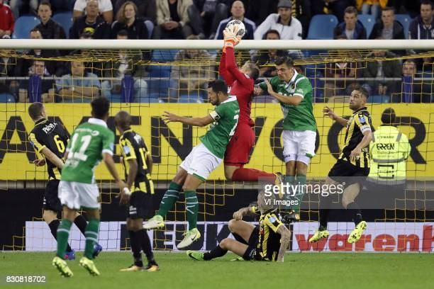 Arnold Kruiswijk of Vitesse Paolo Fernandes of NAC Breda Thulani Serero of Vitesse Pablo Mari Villar of NAC Breda goalkeeper Remko Pasveer of Vitesse...