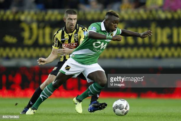 Arnold Kruiswijk of Vitesse Thierry Ambrose of NAC Breda during the Dutch Eredivisie match between Vitesse Arnhem and NAC Breda at Gelredome on...