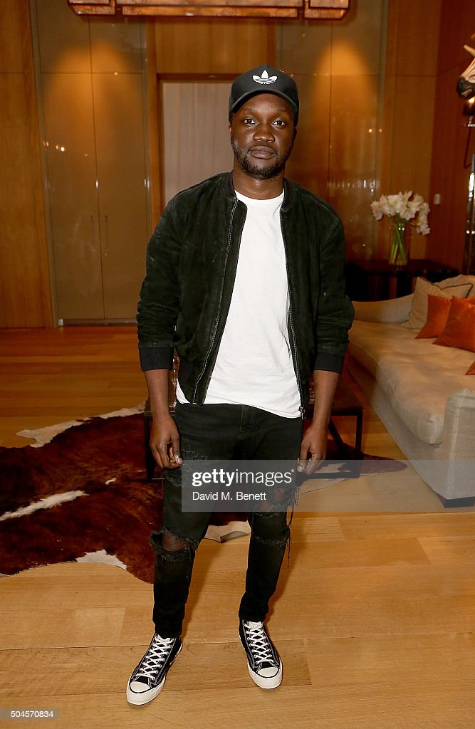 Arnold Oceng attends a reception hosted by Marks & Spencer and ShortList Magazine to celebrate London Collections Men AW16 at Rosewood London on January 11, 2016 in London, England.