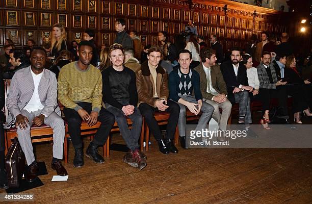 Arnold Oceng Nathan StewartJarrett Joe Dempsie Oliver Cheshire Andrew Scott Robert Konjic Jack Guinness and Tallulah Harlech attend the Pringe Of...