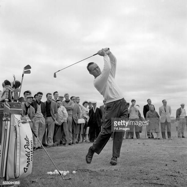 Arnold Palmer at Royal Birkdale preparing for the British Open Golf Championship