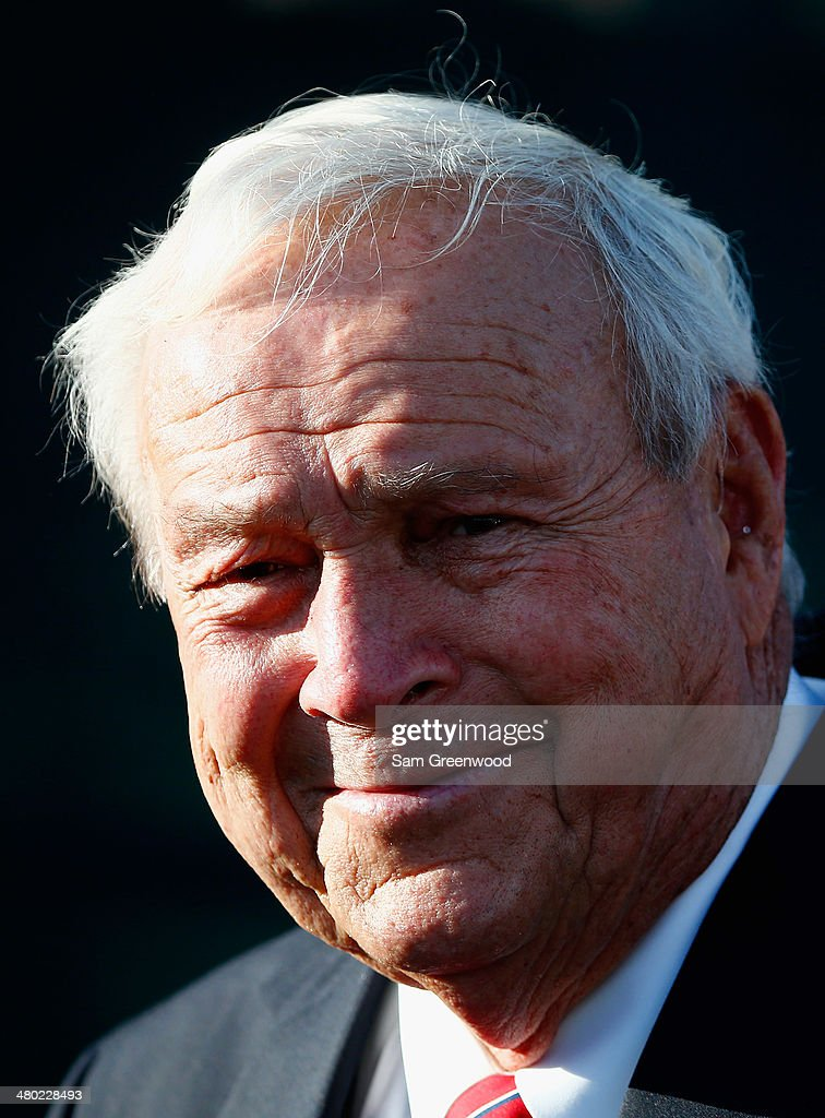 Arnold Palmer looks on during the trophy ceremony after the final round of the Arnold Palmer Invitational presented by MasterCard at the Bay Hill Club and Lodge on March 23, 2014 in Orlando, Florida.