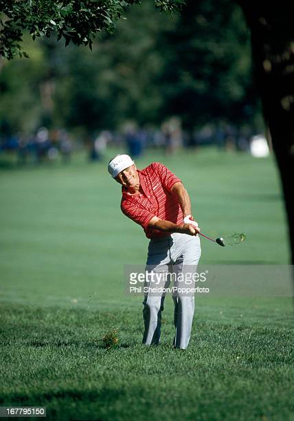 Arnold Palmer of the United States in action during the US PGA Championship held at the Cherry Hills Golf Club in Colorado circa August 1985
