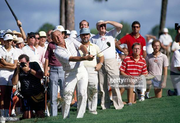 Arnold Palmer of the United States in action during the US PGA Championship held at the PGA National Resort and Spa in Florida circa August 1987
