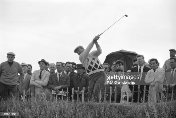 Arnold Palmer of USA plays a shot during the 1965 Open Championship at Royal Birkdale Golf Club Liverpool England