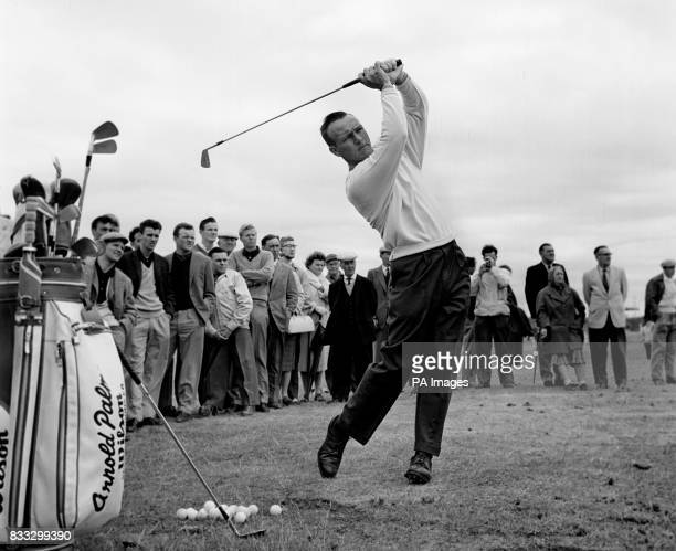 Arnold Palmer seen during practice at Royal Birkdale Southport Lancashire preparing for the British Open Golf Championship which starts on the 12th