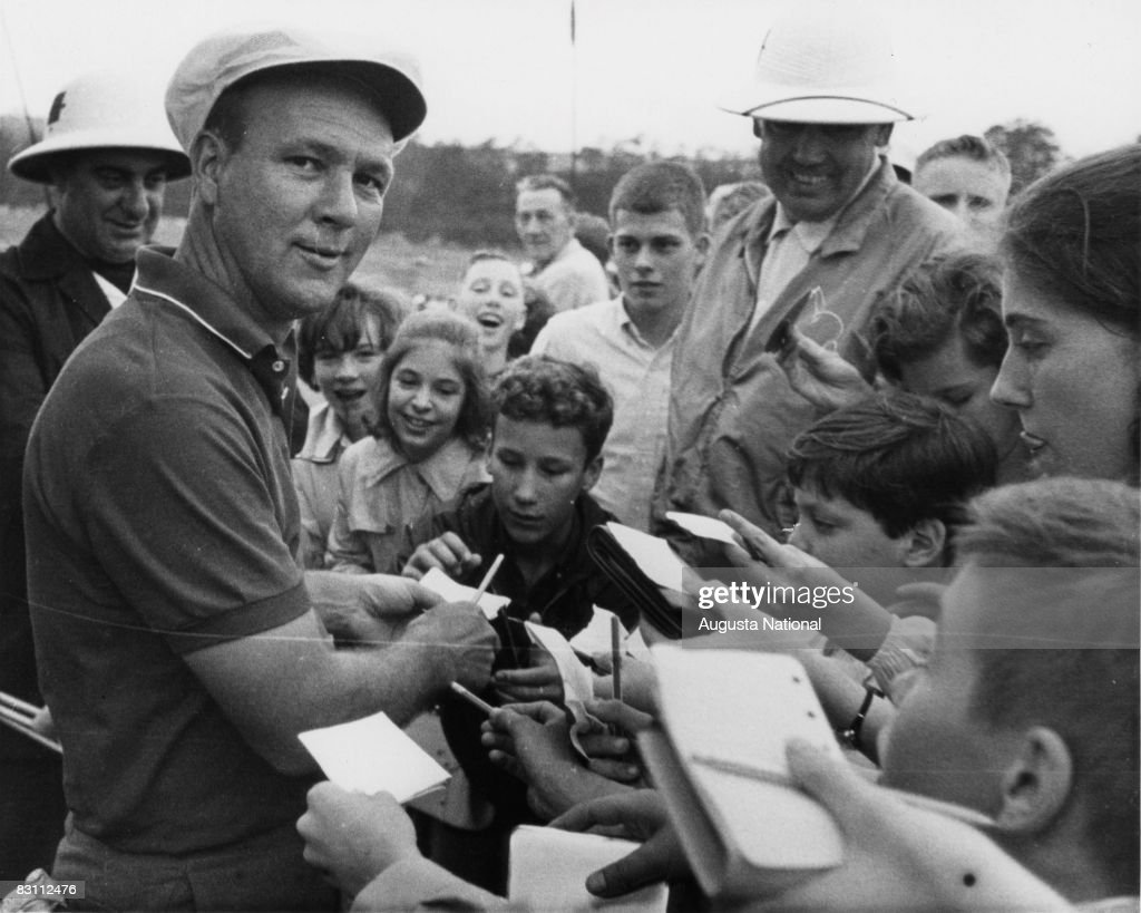 Arnold Palmer Signs Autographs During The 1964 Masters Tournament