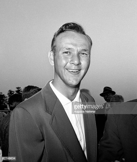 Arnold Palmer smiles during the Presentation Ceremony at the 1958 Masters Tournament at Augusta National Golf Club held April 36 1958 in Augusta...