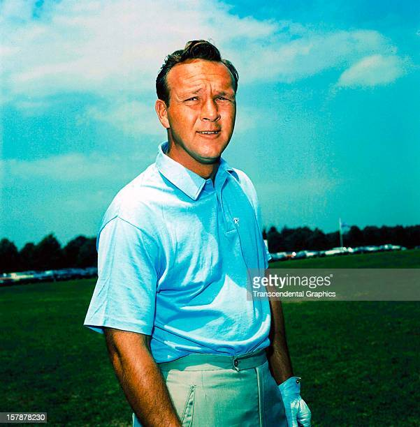 Arnold Palmer stops for a photograph at the Masters Golf Tournament April 5 1964 in Augusta Georgia
