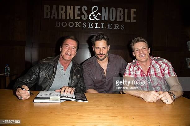 Arnold Schwarzenegger actor Joe Manganiello and trainer Ron Mathews attend the book signing for Joe Manganiello's new book 'Evolution The Cutting...
