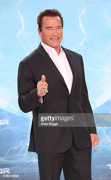 Arnold Schwarzenegger and attends the European Premiere of 'Terminator Genisys' at the CineStar Sony Center on June 21 2015 in Berlin Germany