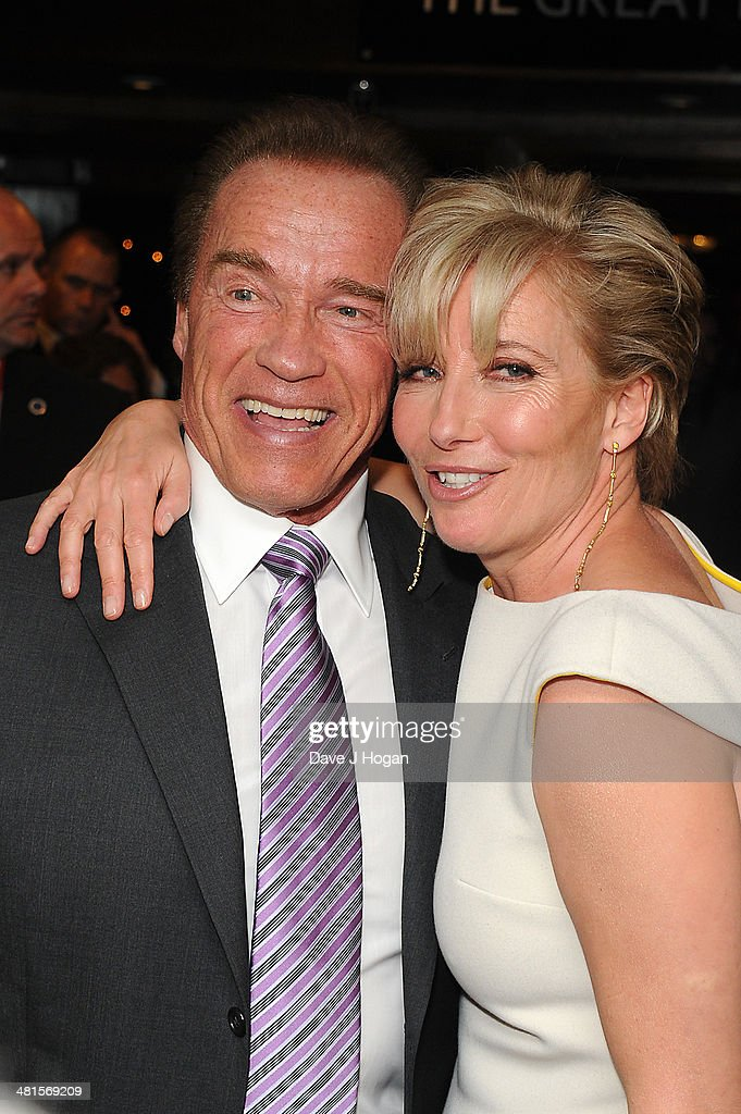 <a gi-track='captionPersonalityLinkClicked' href=/galleries/search?phrase=Arnold+Schwarzenegger&family=editorial&specificpeople=156406 ng-click='$event.stopPropagation()'>Arnold Schwarzenegger</a> and <a gi-track='captionPersonalityLinkClicked' href=/galleries/search?phrase=Emma+Thompson&family=editorial&specificpeople=202848 ng-click='$event.stopPropagation()'>Emma Thompson</a> poses in the press room at the Jameson Empire Film Awards 2014 at The Grosvenor House Hotel on March 30, 2014 in London, England.