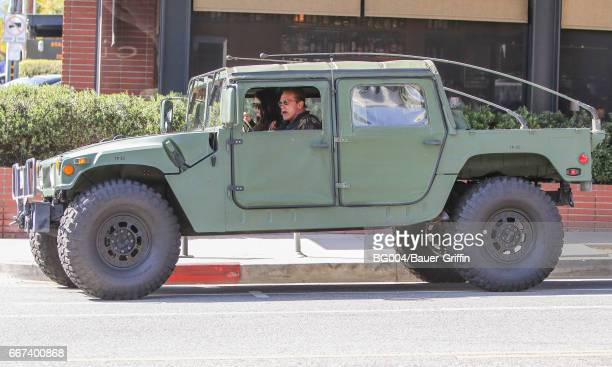 Arnold Schwarzenegger and his daughter Katherine are seen on April 11 2017 in Los Angeles California
