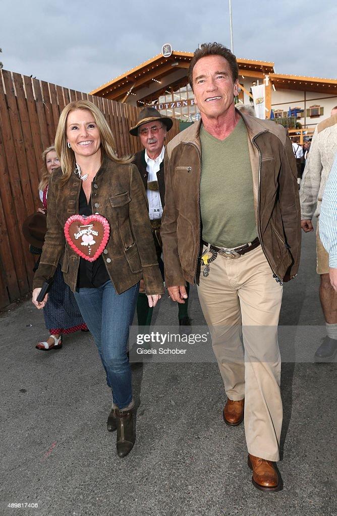 Arnold Schwarzenegger And Heather Milligan Visit Oktoberfest 2015