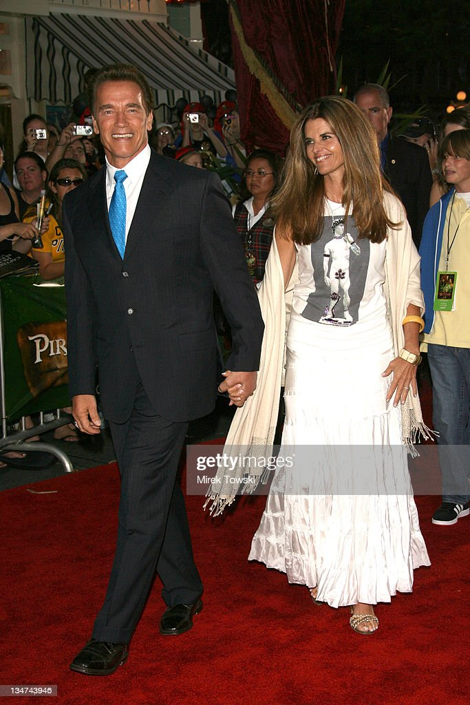 Arnold Schwarzenegger and Maria Shriver during 'Pirates of the Caribbean Dead Man's Chest' Los Angeles Premiere Arrivals at Main Street USA...