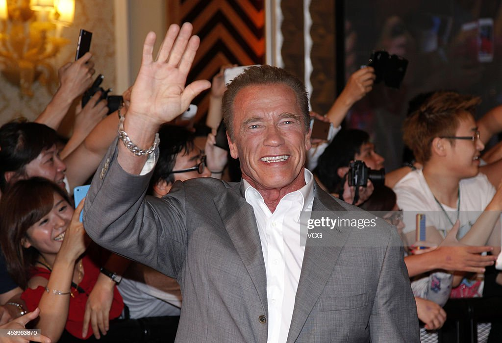 <a gi-track='captionPersonalityLinkClicked' href=/galleries/search?phrase=Arnold+Schwarzenegger&family=editorial&specificpeople=156406 ng-click='$event.stopPropagation()'>Arnold Schwarzenegger</a> arrives a special screening of 'The Expendables 3' at The Venetian Macao on August 22, 2014 in Macau, Macau.
