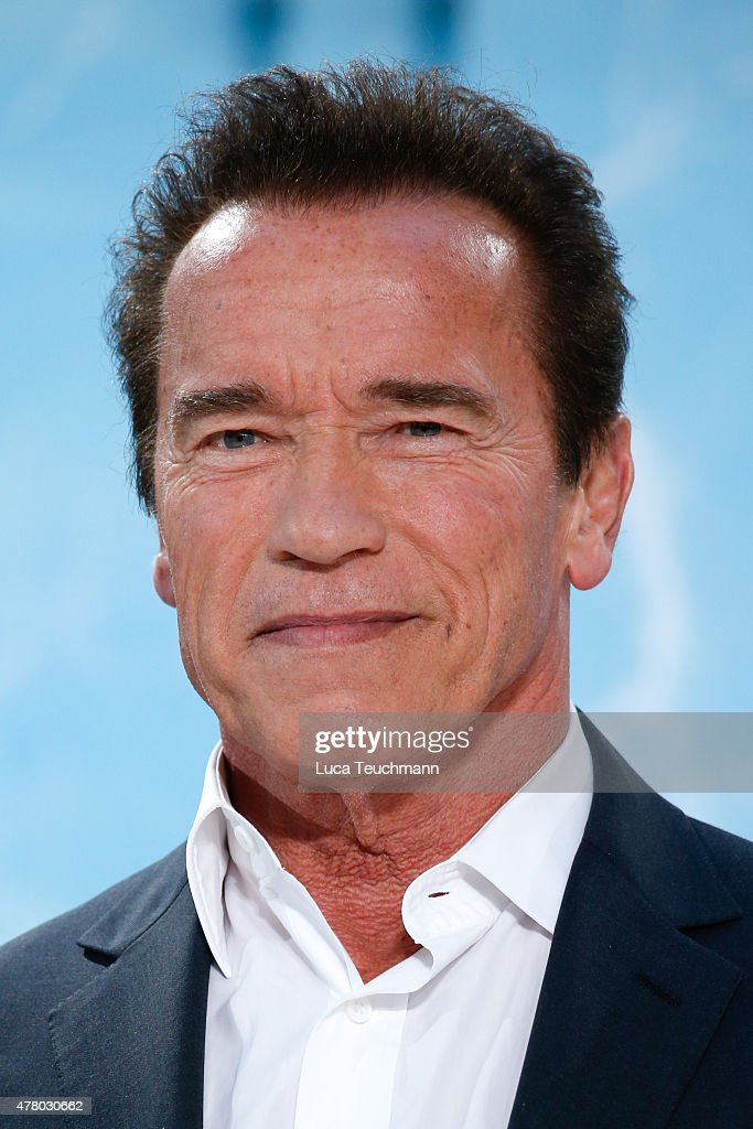 <a gi-track='captionPersonalityLinkClicked' href=/galleries/search?phrase=Arnold+Schwarzenegger&family=editorial&specificpeople=156406 ng-click='$event.stopPropagation()'>Arnold Schwarzenegger</a> arrives at the European Premiere of 'Terminator: Genisys' at the CineStar Sony Center on June 21, 2015 in Berlin, Germany.