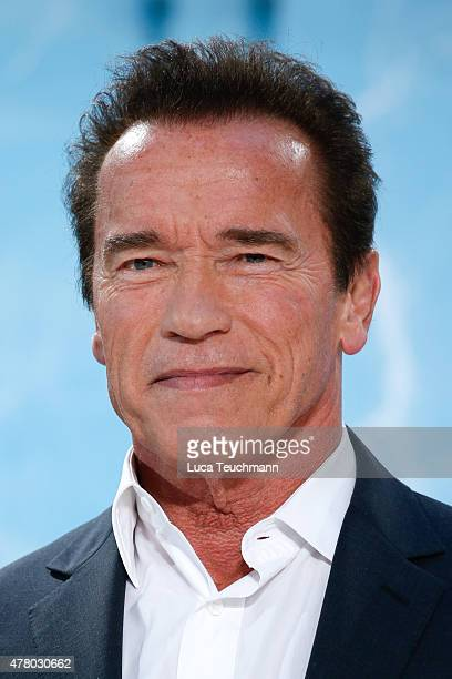 Arnold Schwarzenegger arrives at the European Premiere of 'Terminator Genisys' at the CineStar Sony Center on June 21 2015 in Berlin Germany