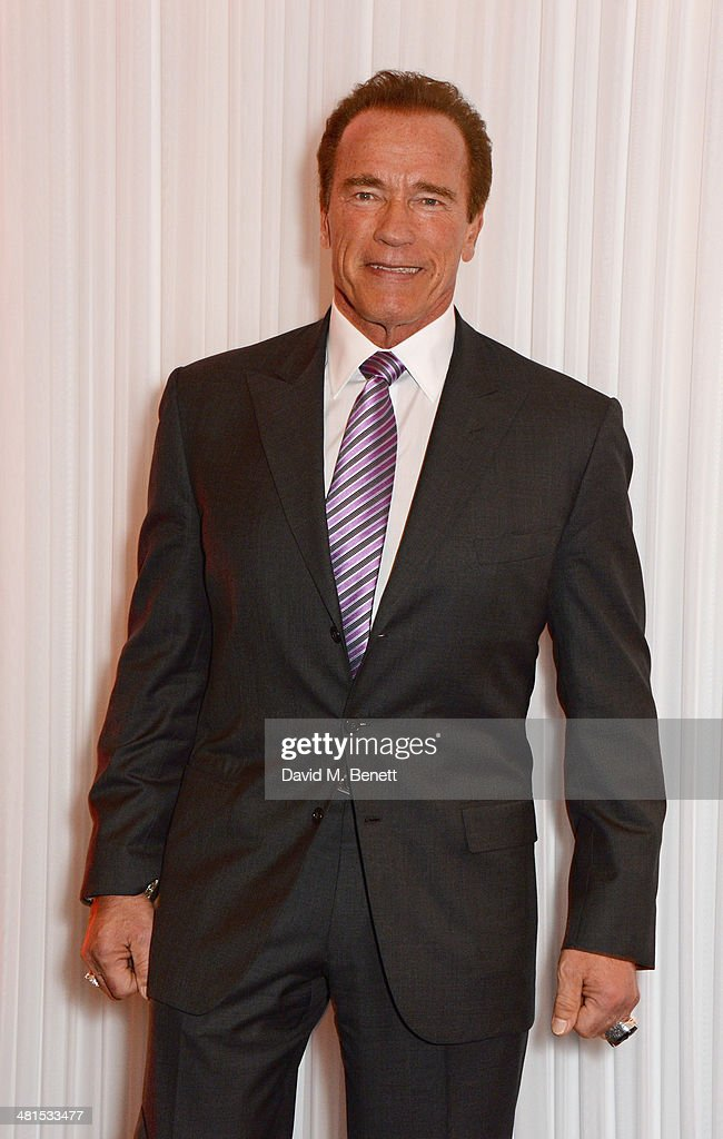 Arnold Schwarzenegger arrives at the Jameson Empire Awards 2014 at The Grosvenor House Hotel on March 30, 2014 in London, England.