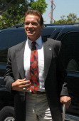 Arnold Schwarzenegger arrives at the Los Angeles Registrar's office in Norwalk California to pull papers to file to be a candidate for governor of...