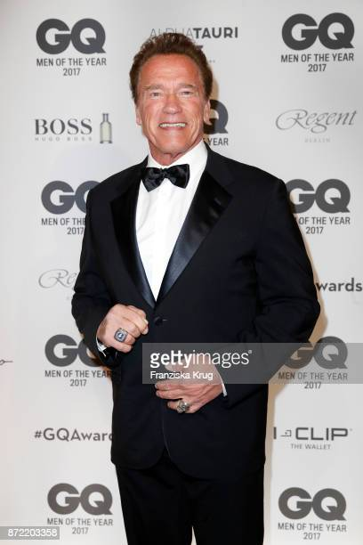 Arnold Schwarzenegger arrives for the GQ Men of the year Award 2017 at Komische Oper on November 9 2017 in Berlin Germany