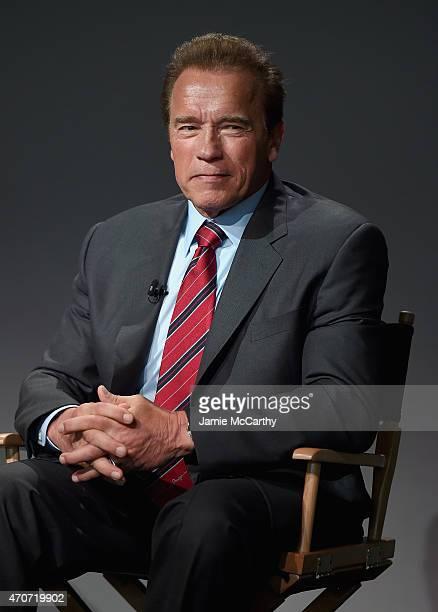 Arnold Schwarzenegger attends the Apple Store Soho Presents Tribeca Film Festival Henry Hobson and Arnold Schwarzenegger 'Maggie' at Apple Store Soho...