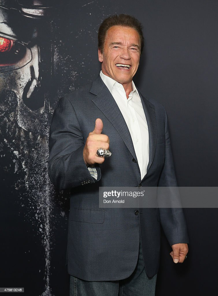 <a gi-track='captionPersonalityLinkClicked' href=/galleries/search?phrase=Arnold+Schwarzenegger&family=editorial&specificpeople=156406 ng-click='$event.stopPropagation()'>Arnold Schwarzenegger</a> attends the Australia Screening of 'Terminator Genisys' at the Event Cinemas on June 4, 2015 in Sydney, Australia.
