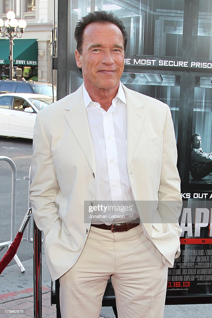 Arnold Schwarzenegger attends the 'Escape Plan' Premiere - Comic-Con International 2013 at Reading Cinemas Gaslamp on July 18, 2013 in San Diego, California.