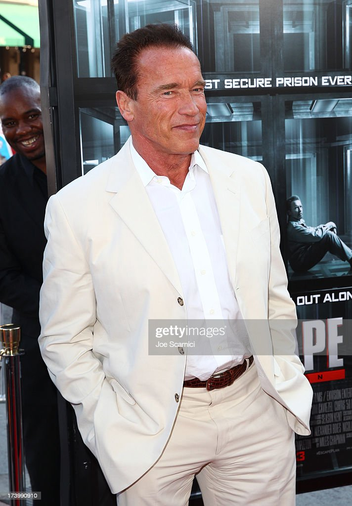 <a gi-track='captionPersonalityLinkClicked' href=/galleries/search?phrase=Arnold+Schwarzenegger&family=editorial&specificpeople=156406 ng-click='$event.stopPropagation()'>Arnold Schwarzenegger</a> attends the 'Escape Plan' screening and red carpet during Comic-Con International 2013 at Reading Cinemas Gaslamp on July 18, 2013 in San Diego, California.