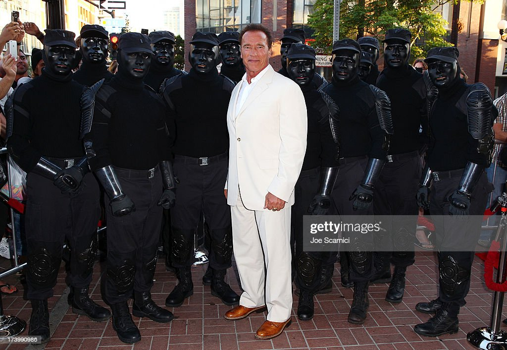 Arnold Schwarzenegger attends the 'Escape Plan' screening and red carpet during Comic-Con International 2013 at Reading Cinemas Gaslamp on July 18, 2013 in San Diego, California.