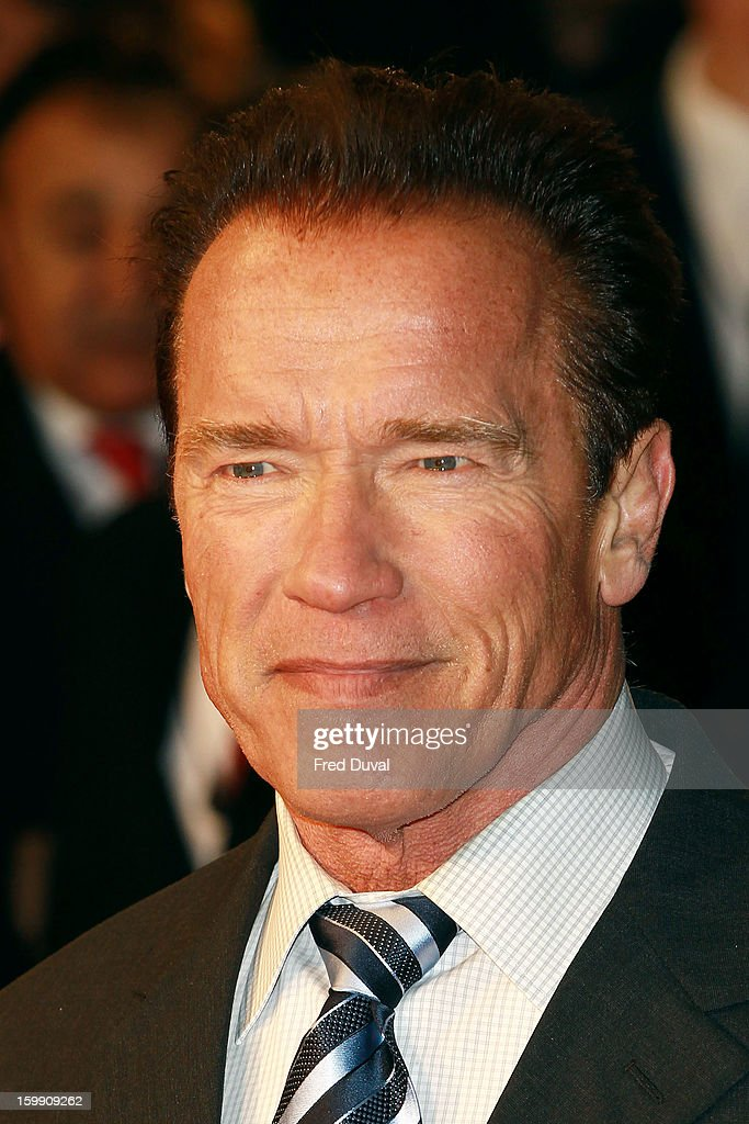 Arnold Schwarzenegger attends the European Premiere of The Last Stand at Odeon West End on January 22, 2013 in London, England.