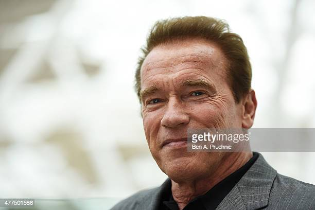 Arnold Schwarzenegger attends the Fan Footage Event of 'Terminator Genisys' at Vue Westfield on June 17 2015 in London England