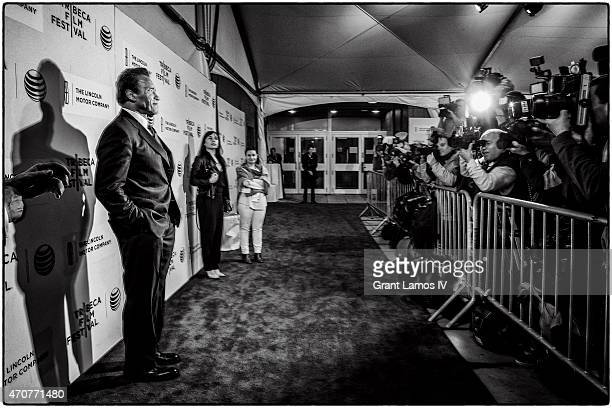 Arnold Schwarzenegger attends the premiere of 'Maggie' during the 2015 Tribeca Film Festival at BMCC Tribeca PAC on April 22 2015 in New York City