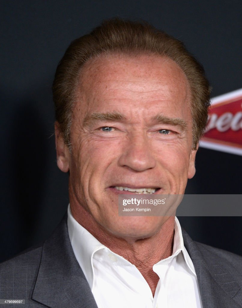 <a gi-track='captionPersonalityLinkClicked' href=/galleries/search?phrase=Arnold+Schwarzenegger&family=editorial&specificpeople=156406 ng-click='$event.stopPropagation()'>Arnold Schwarzenegger</a> attends the premiere of Open Road Films' 'Sabotage' at Regal Cinemas L.A. Live on March 19, 2014 in Los Angeles, California.