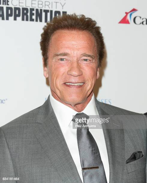Arnold Schwarzenegger attends the red carpet event for NBC's 'Celebrity Apprentice' at Westin Bonaventure Hotel on March 2 2016 in Los Angeles...