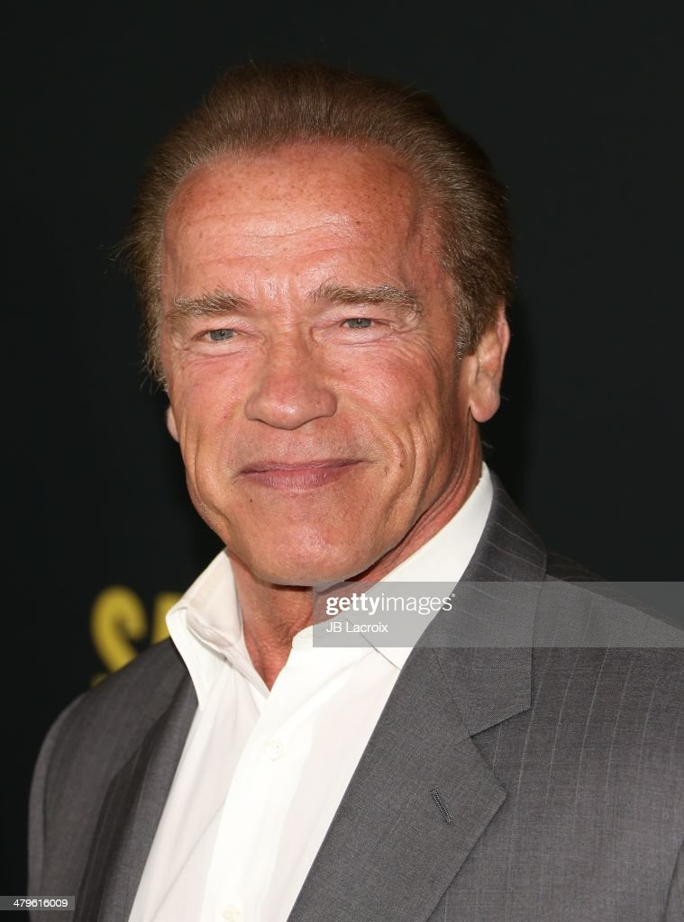 <a gi-track='captionPersonalityLinkClicked' href=/galleries/search?phrase=Arnold+Schwarzenegger&family=editorial&specificpeople=156406 ng-click='$event.stopPropagation()'>Arnold Schwarzenegger</a> attends the 'Sabotage' Los Angeles premiere held at Regal Cinemas L.A. Live on March 19, 2014 in Los Angeles, California.