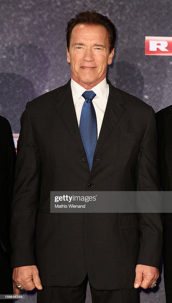 <a gi-track='captionPersonalityLinkClicked' href=/galleries/search?phrase=Arnold+Schwarzenegger&family=editorial&specificpeople=156406 ng-click='$event.stopPropagation()'>Arnold Schwarzenegger</a> attends the 'The Last Stand' Cologne Premiere at Astor Film Lounge on January 21, 2013 in Cologne, Germany.