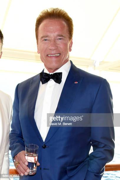 Arnold Schwarzenegger attends the Vanity Fair and HBO Dinner celebrating the Cannes Film Festival at Hotel du CapEdenRoc on May 20 2017 in Cap...