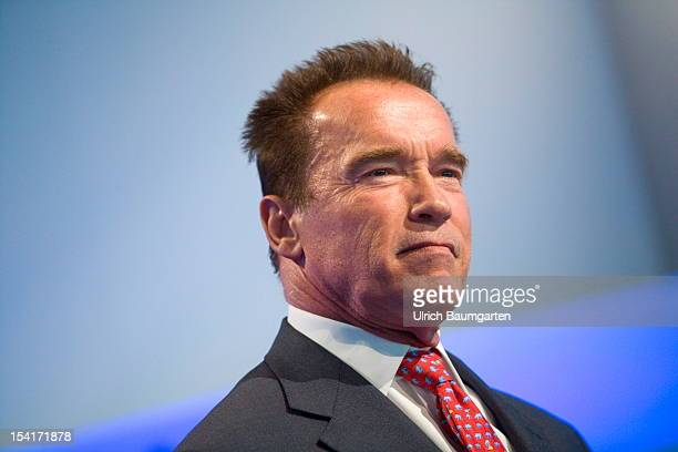 Arnold Schwarzenegger Austrian American actor author and former governor on October 10 2012 in Frankfurt am Main Germany The Frankfurt Book Fair is...