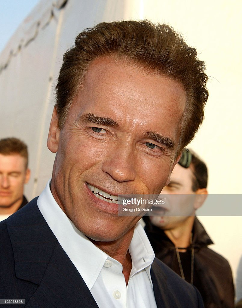 Arnold Schwarzenegger during 10th Anniversary Dream Halloween Los Angeles Fundraising Event at Barker Hanger in Santa Monica, California, United States.