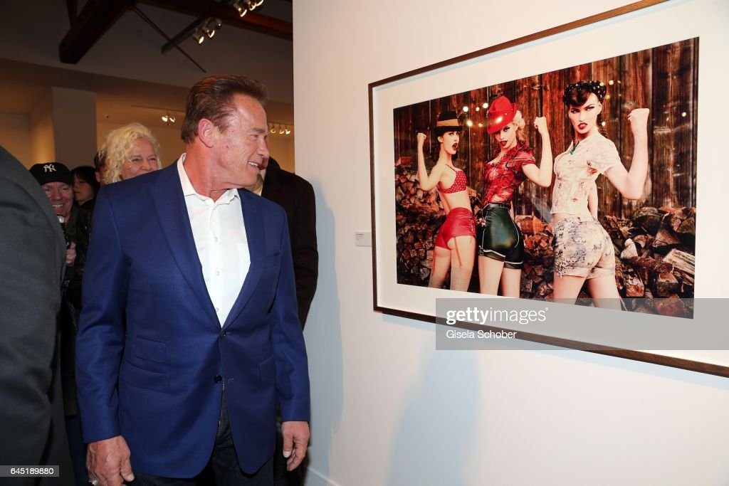Arnold Schwarzenegger during the opening night of Ellen von Unwerth's photo exhibition at TASCHEN Gallery on February 24, 2017 in Los Angeles, California.