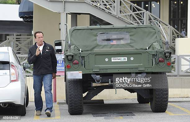 Arnold Schwarzenegger is seen on May 05 2013 in Los Angeles California