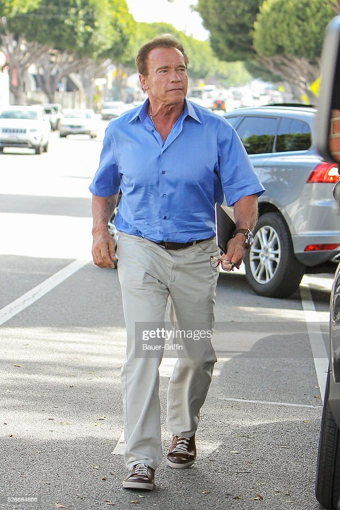 Arnold Schwarzenegger is seen on May 06, 2016 in Los Angeles, California.