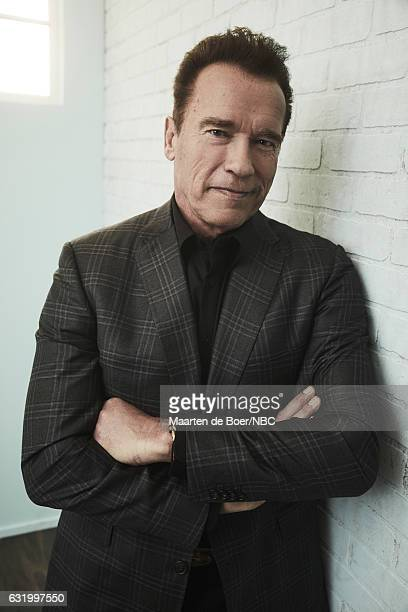 Arnold Schwarzenegger of 'The New Celebrity Apprentice' poses for a portrait in the NBCUniversal Press Tour portrait studio at The Langham Huntington...