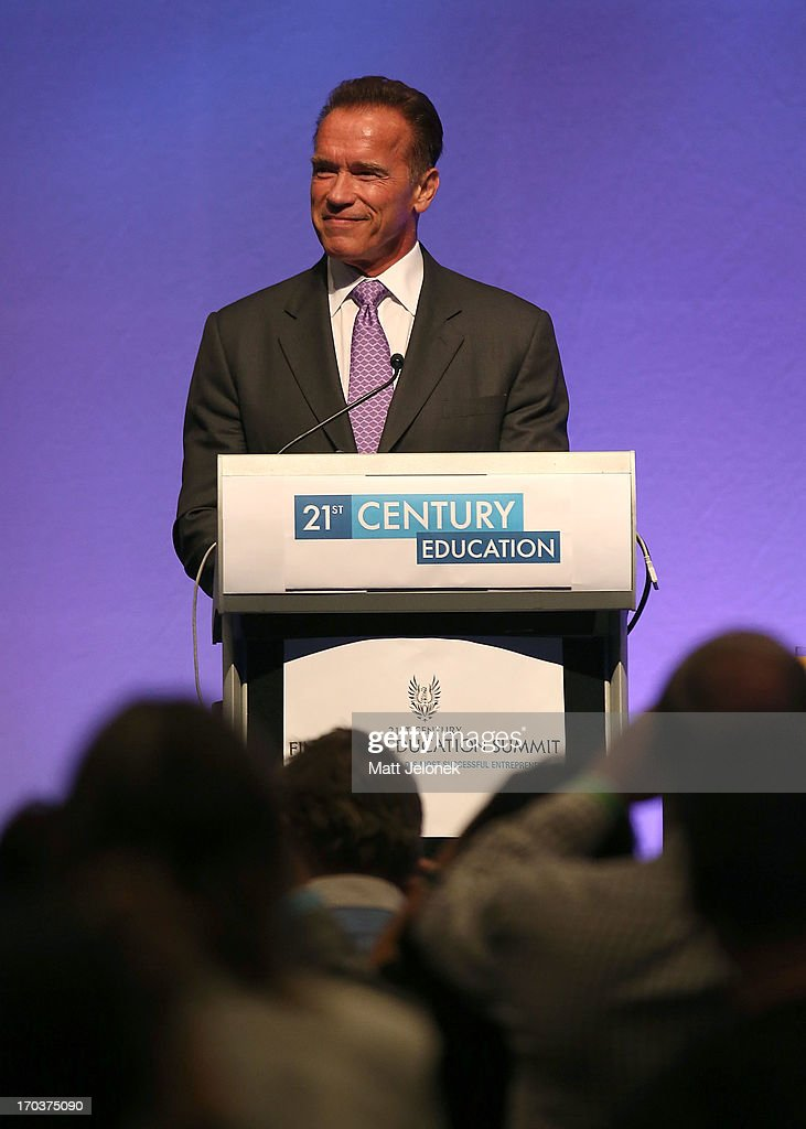 Arnold Schwarzenegger speaks at the 2013 Financial Education Sumit on June 12, 2013 in Perth, Australia.