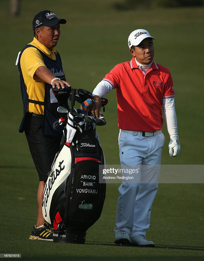 Arnond Vongvanij of Thailand in action during the second round of the Ballantine's Championship at Blackstone Golf Club on April 26, 2013 in Icheon, South Korea.