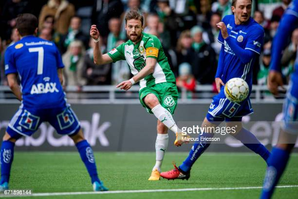 Arnór Smárason of Hammarby IF during the Allsvenskan match between Hammarby IF and GIF Sundsvall at Tele2 Arena on April 23 2017 in Stockholm Sweden